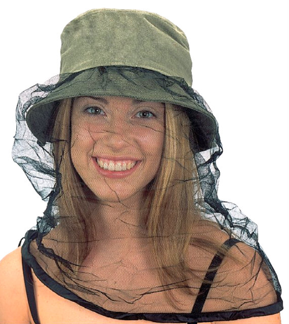 Washed Twill Mosquito Net Hat