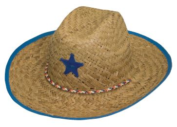 Childs Natural Straw Cowboy with Color Trim 864a4f3781f4