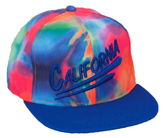 CHILD CAP W/TIE-DYED CROWN