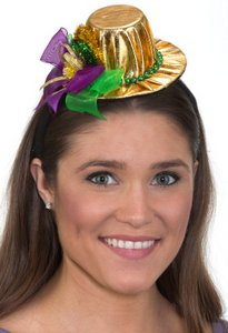 Jacobson Hat Company - GOLD MARDI GRAS TOP HAT HEADBAND b6040b358461